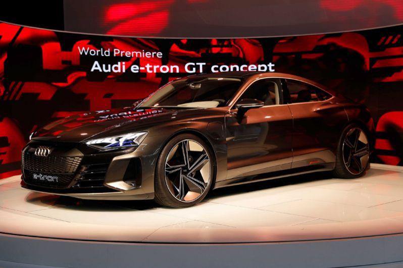 Концепт Audi e-tron GT.
