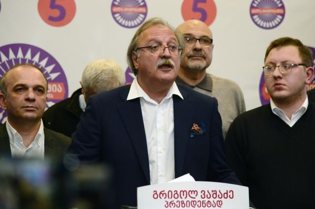 Проигравший кандидат в президенты Грузии Вашадзе отказался признавать итоги выборов