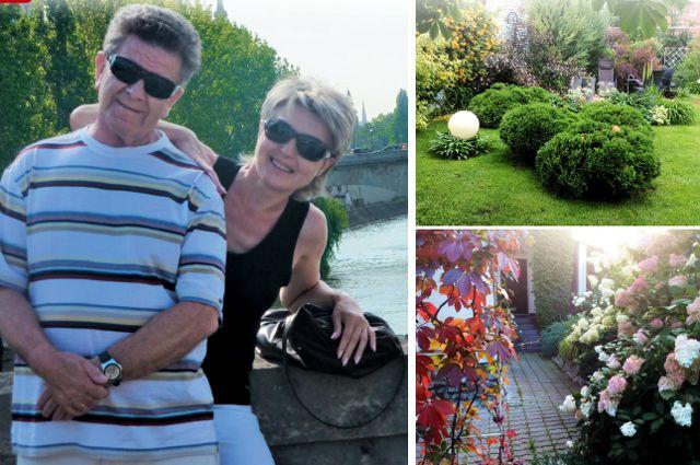 Они создали свой прекрасный мир, где было много любви, тепла, смеха и красоты (справа - дело рук Ирины - сад Гринбергов, который цветёт с ранней весны до поздней осени).