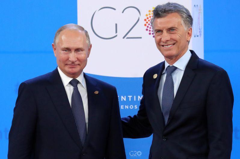 Президент России Владимир Путин и президент Аргентины Маурисио Макри.