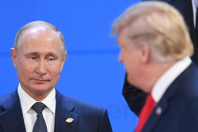 Владимир Путин и Дональд Трамп перед совместным фотографированием глав делегаций G20.