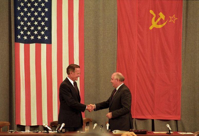 Джордж Буш-старший и Михаил Горбачев, 1991 г.