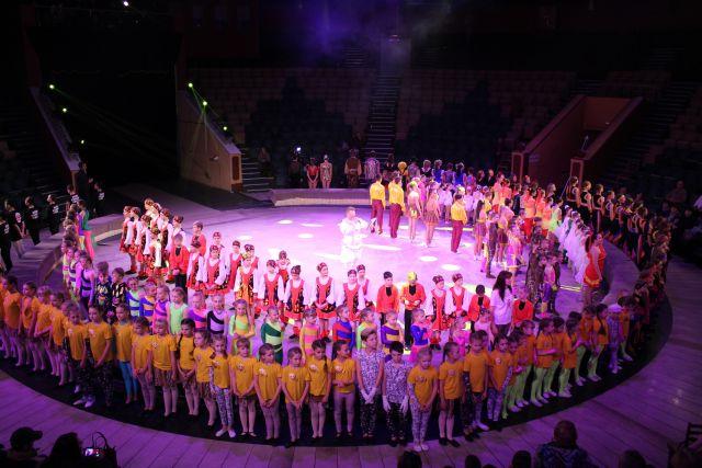 На арену вышли 26 любительских цирковых коллективов.