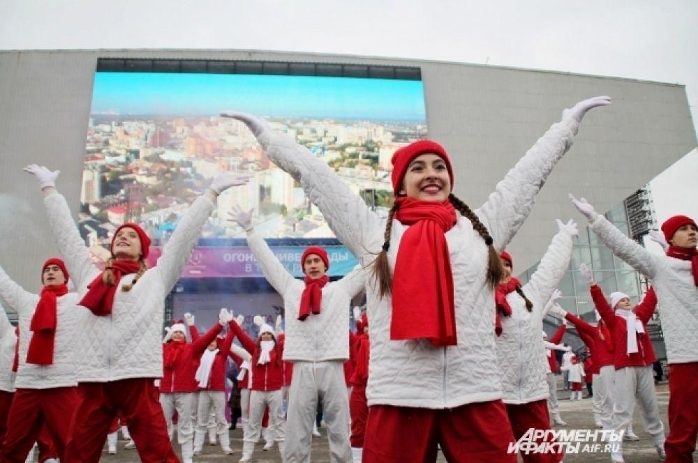 В конце иркутского этапа был исполнен гимн Универсиады 2019.