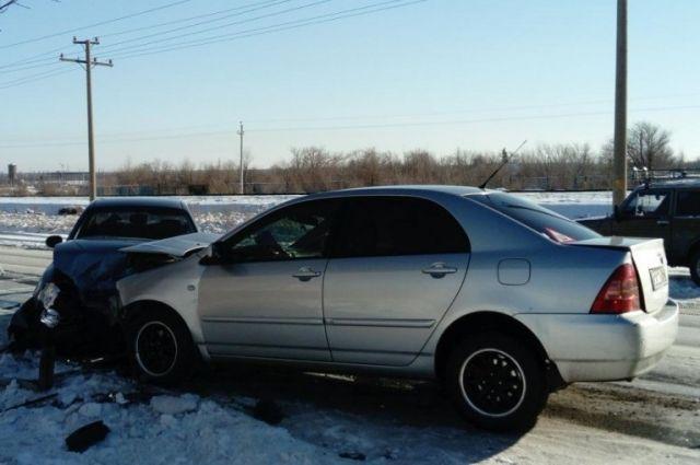 В Орске в ДТП с Toyota и Daewoo Lanos пострадал 10-летний ребенок