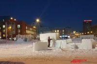 Снежный городок на площади Ленина заработает 21 декабря.