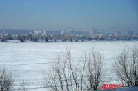 Река Иртыш в городе Омске