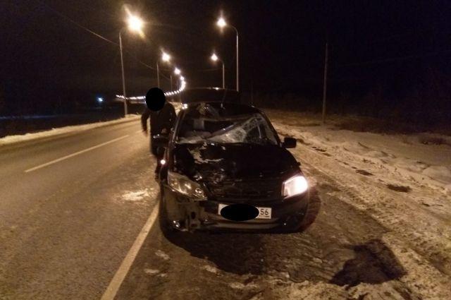 В Октябрьском районе водитель «Гранты» насмерть сбил неизвестного пешехода