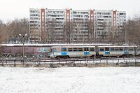 Электропоезд московского метрополитена.