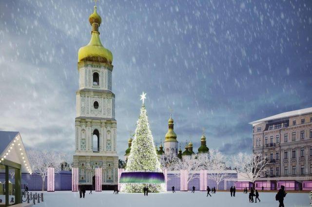 Как будет выглядеть елка на Софийской площади в 2019 году: макет