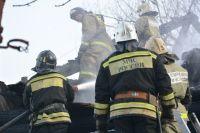 В Оренбурге горел расселенный дом на ул.Кирова.