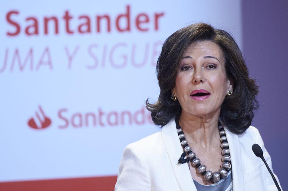 Председатель совета директоров Santander Ана Патрисия Ботин — на восьмой строчке.