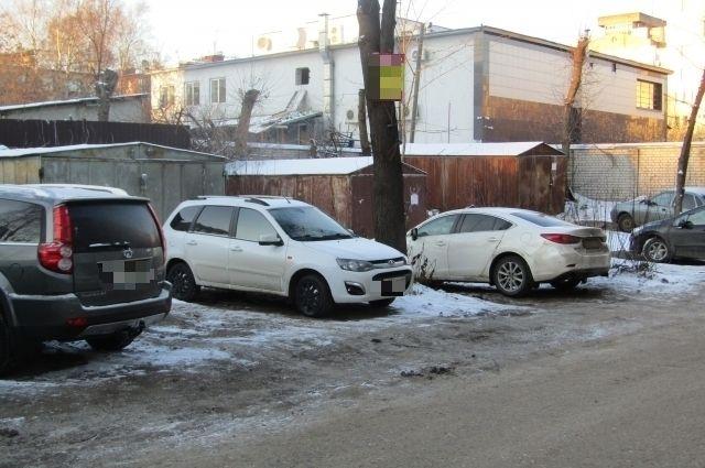 Гаражи на улице Ерофеева, 5а в Твери.