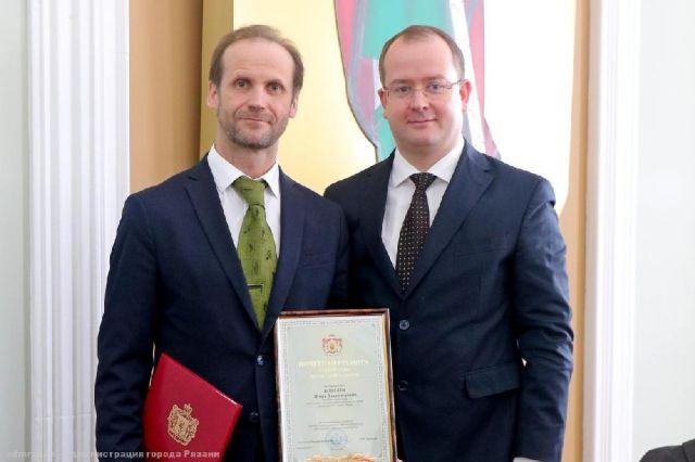 Игорь Ковалев (слева) с и.о. главы администрации Рязани Сергеем Карабасовым