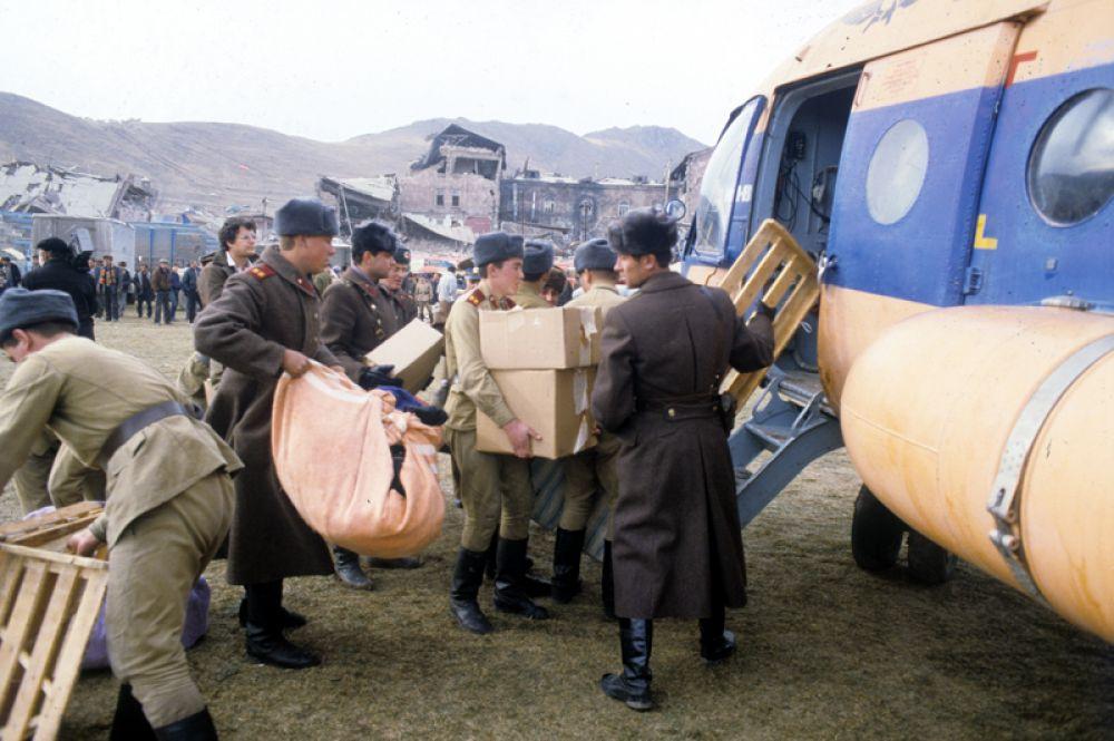Гуманитарная помощь пострадавшим от землетрясения.