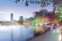После ремонта мост через Черкизовский пруд получит красивую подсветку.