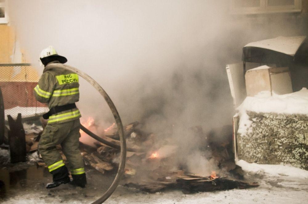 Пожар в больнице скорой медицинской помощи
