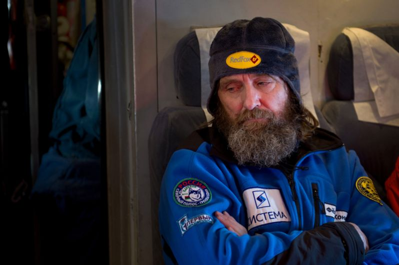 Федор Конюхов во время перелета с острова Шпицберген на дрейфующую ледовую базу «Барнео» в рамках экспедиции Карелия – Северный Полюс – Гренландия. 2013 год.