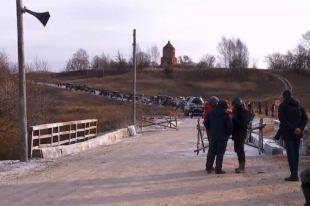 На съемках фильма «Ильинский рубеж».