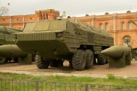 Пусковая установка 9П71 и ракета 9М714 оперативно-тактического ракетного комплекса «Ока».