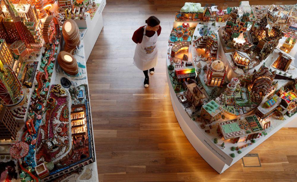 Пряничный город в Музее Виктории и Альберта в Лондоне.
