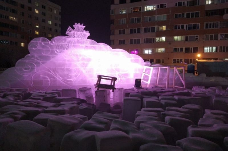 Ледовый городок в Новом Уренгое.