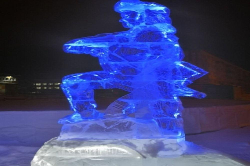 Ледовый городок в Ноябрьске.