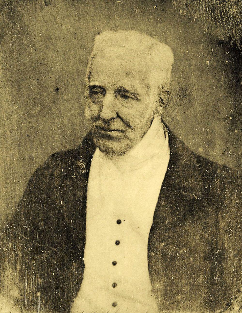 Британский полководец и государственный деятель Артур Уэлсли Веллингтон в возрасте 74 или 75 лет. Снимок сделан Антоном Клоде в 1844 году.