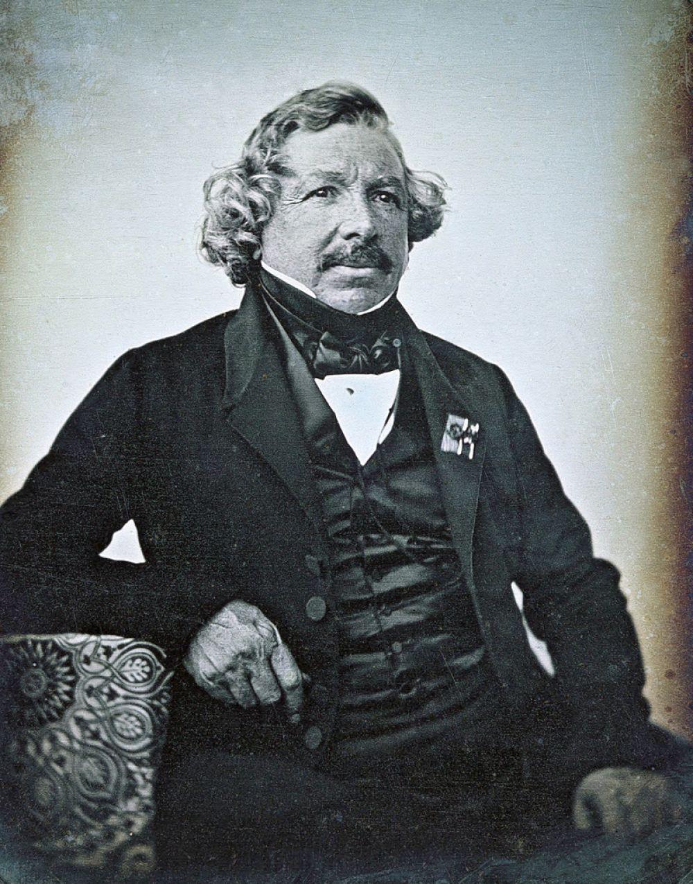 Портрет самого Луи Дагера, снятый в 1844 году Жан-Батистом Сабатье-Блотом.