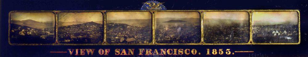 Шесть дагеротипов с видом Сан-Франциско, 1853 год.