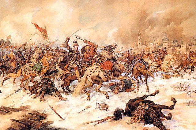 «Битва под Псковом». Польское войско. Картина Юлиуша Коссака.