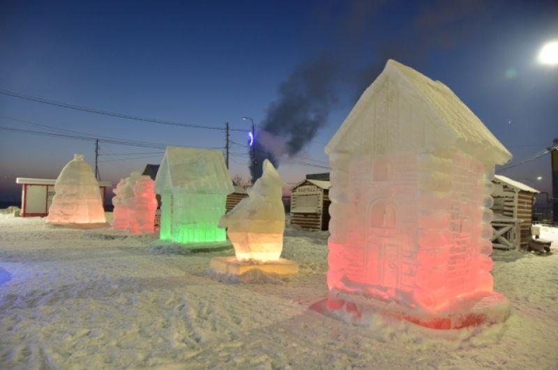 Ледовый городок в Тазовском