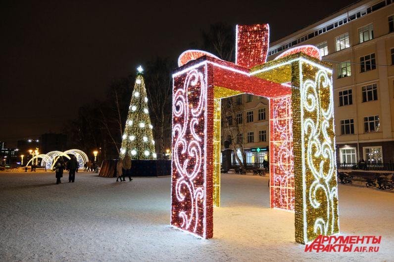Соборная площадь стала частью новогоднего маршрута.