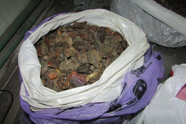 Калининградец пытался тайком вывезти из региона более 10 кг янтаря.