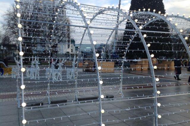 В Калининграде с новогодних световых скульптур украли лампочки.