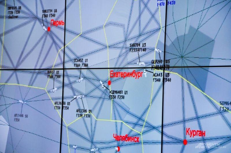 Общая площадь воздушного пространства, подконтрольного Екатеринбургскому укрупненному центру составляет 686,6 тысяч кв. км.