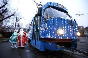 «Новогодний трамвай» будет ходить повечерам.