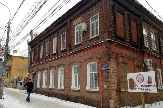В доме по ул. Сакко и Ванцетти до сих пор живут люди.