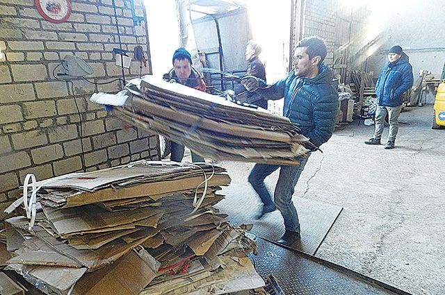 В месяц сдаётся около тысячи кг раздельного мусора.