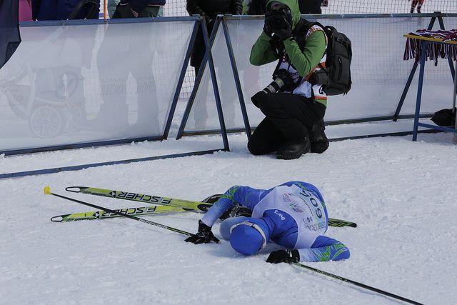 Соревнования по лыжным гонкам проходят в Тюмени