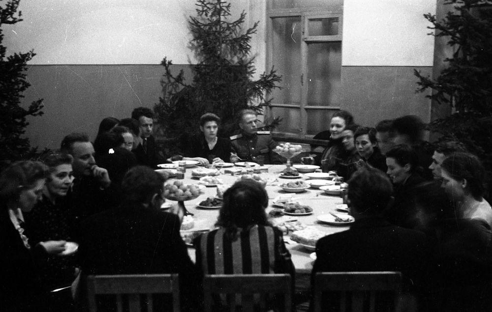 Новогодний вечер в хореографическом училище, декабрь 1950 г.