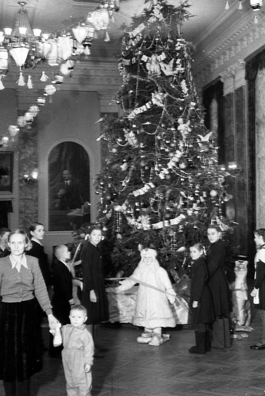 Новогодний вечер в ДК им. Сталина, декабрь 1955 г.