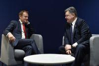Порошенко попросил Туска принять меры по защите Азовского моря