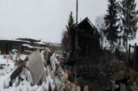 Дом сгорел дотла.