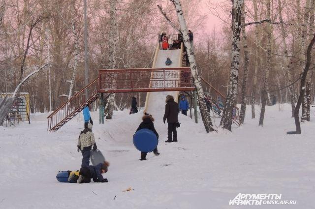 Зимние развлечения в парке