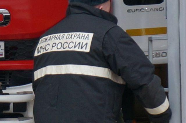 Огнеборцы тушили ночной пожар в Кудымкарском районе.