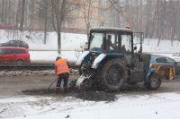 Укравтодор отказался платить за укладку асфальта «в снег»