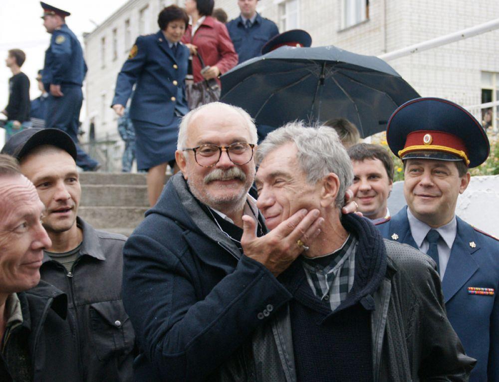 Руководитель Союза кинематографистов РФ Никита Михалков и телеведущий Юрий Николаев. 2010 год.