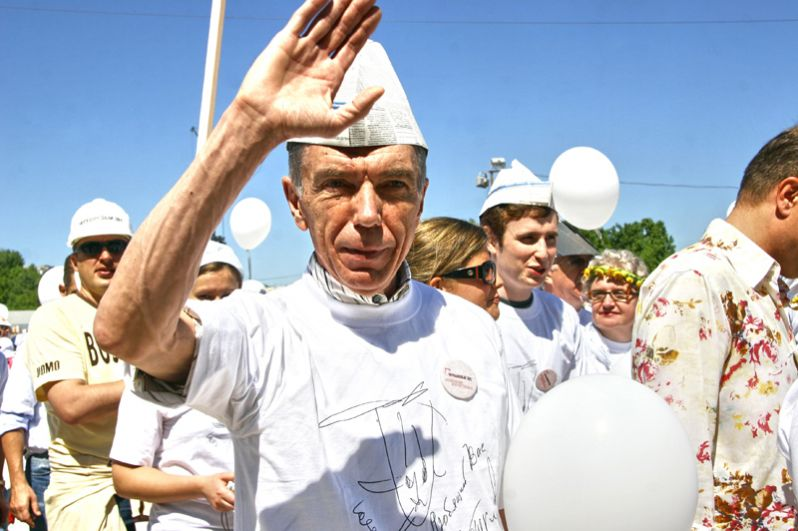 Юрий Николаев на ежегодном театральном фестивале «Боско ди Чильеджи». 2009 год.