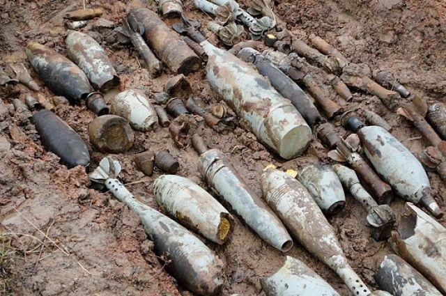 Во время акции нашли много боеприпасов.